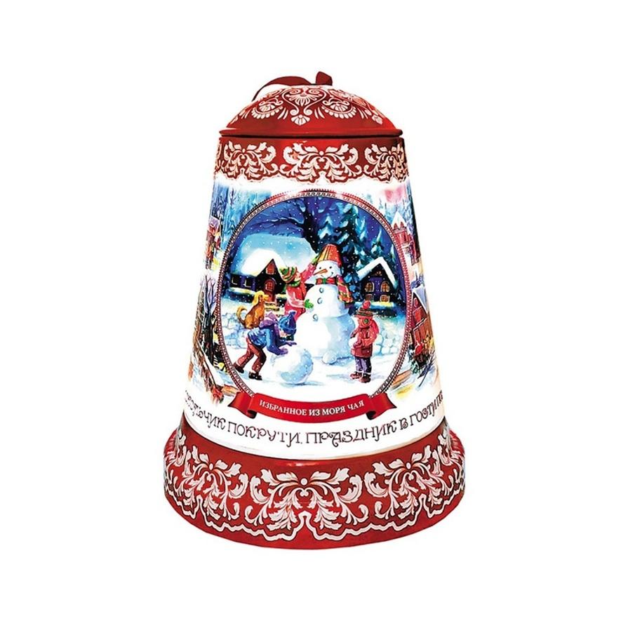 Чай Избранное из море чая Музыкальный колокольчик Снеговик черный 50 гр ж/б