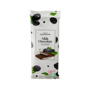 Шоколад Коммунарка Нуга с черносливом молочный 80 гр