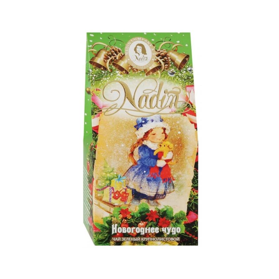 Чай Надин Новогоднее чудо зеленый 50 гр картон