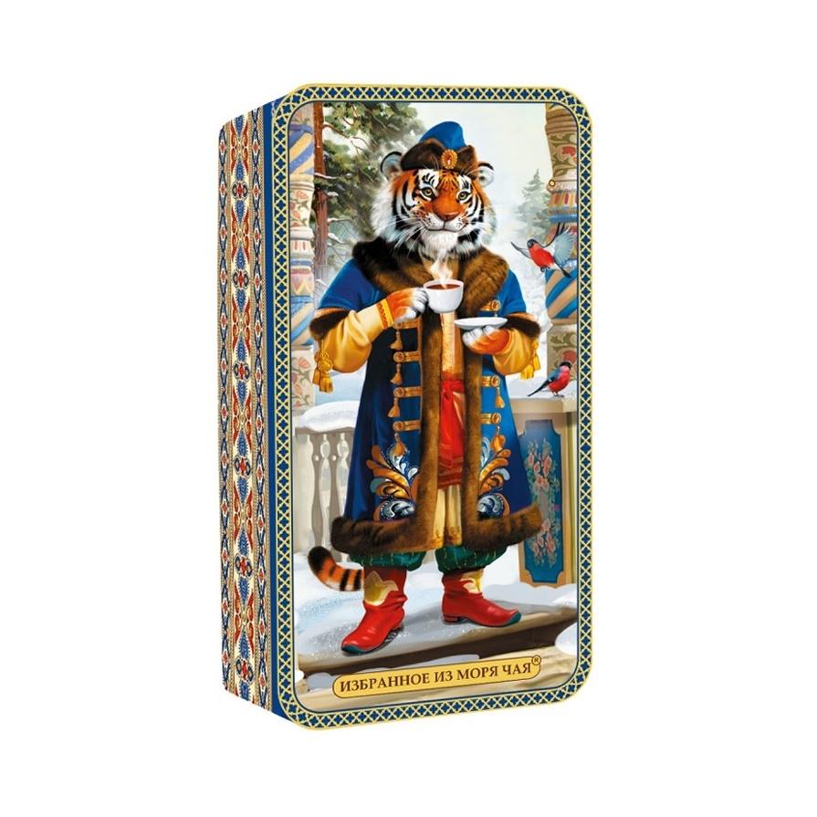 Чай ИМЧ Шкатулка Символ года Тигр черный 50 гр ж/б