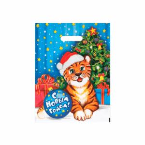 Подарочный пакет Тигруля 31*40 см 60 мкм