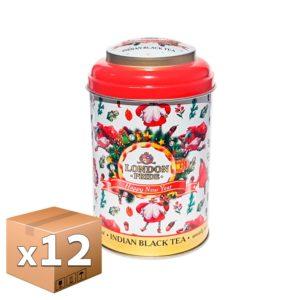 Чай London Pride Новогодний черный 75 гр ж/б микс (12 шт)