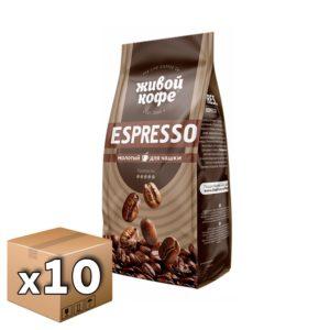 Кофе Живой Espresso молотый 200 гр м/у (10 шт)