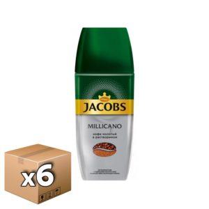 Кофе Jacobs Millicano растворимый с добавлением молотого 90 гр ст/б (6 шт)